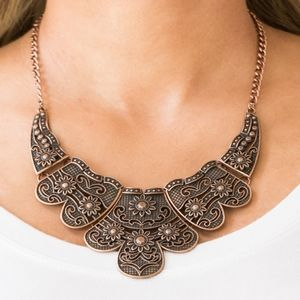 Paparazzi Mess With the Bull Copper Necklace Set
